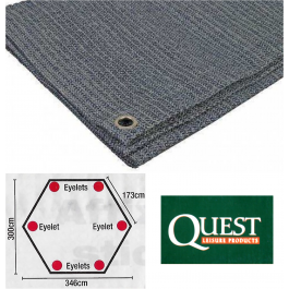 Quest Screen house 6 Hexagonal shape breathable groundsheet 300 x 346cm A1065