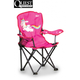 Quest Childrens kids childs folding unicorn compact camping safety lock chair