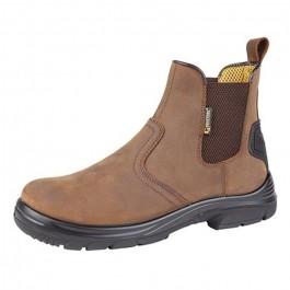 grafters dark brown oily crazyhorse safety dealer boot m9509b