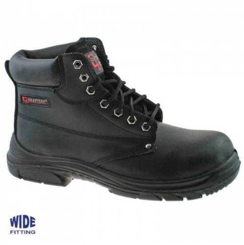 c6c9df2de5c Grafters Safety Men's Wide Fitting STC Work Boots M9503A Black 2019