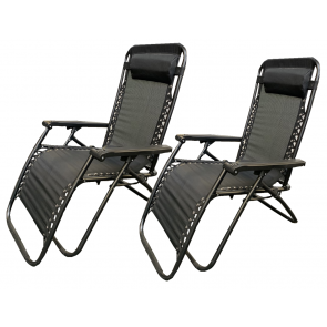 Twin Pack Hortos zero gravity relaxer Black