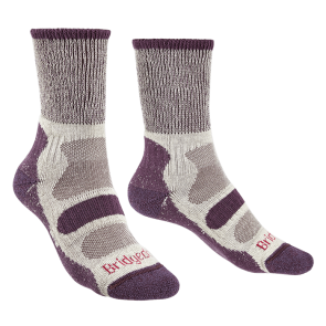 bridgedale hike l/w cotton comfort women's sock plum