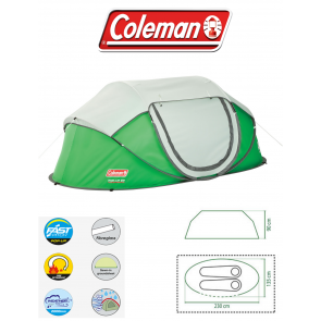 coleman galiano 2 berth person man pop up