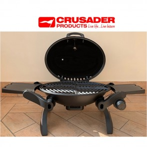 crusader portable gas barbecue with lid w910