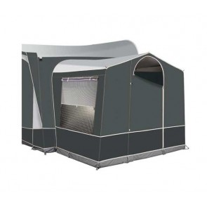 dorema president tall de luxe annex with rear door charcoal