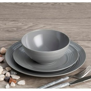 flamefield 12 piece cool grey melamine set 2020