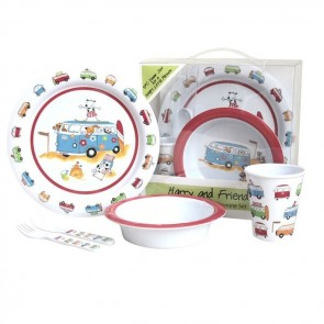 flamefield kids harry and friends 5pc melamine set 2019