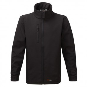 fortress selkirk men's softshell jacket black
