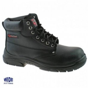 grafters safety men's wide fitting stc work boots m9503a black