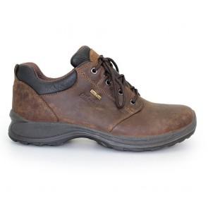 griport exmoor men's walking shoe brown side view