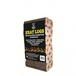 Big K pack of 12 heat logs for firepits and stoves etc LGHEAT