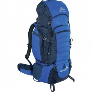 highlander expedition 65lt rucksack ruc248 blue front