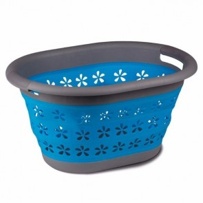 kampa collapsible laundry basket blue cw0118