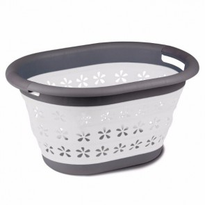kampa collapsible laundry basket grey cw0119