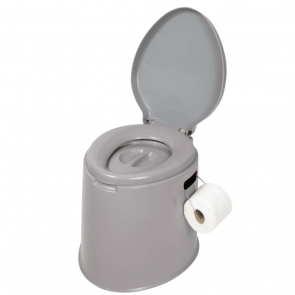 kampa king khazi toilet with roll holder