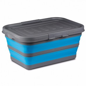 kampa large collapsible storage box blue cw0120