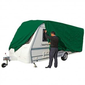 kampa prestige breathable caravan cover unzipped