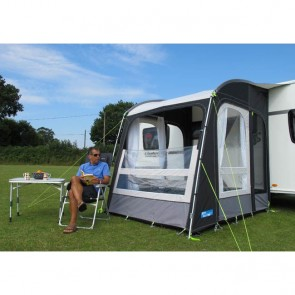 kampa rally air pro 200 caravan porch awning front open