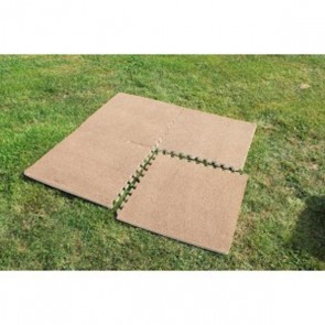 outdoor revolution/blue diamond versatile mocca plush look tiles