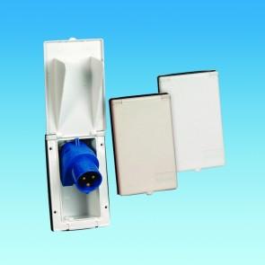 pls 240v rectangular flush fit inlet po114