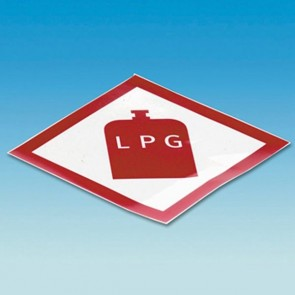 lpg gas diamond sticker standard