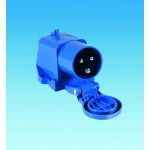 pls 230v mains surface mounted inlet po112