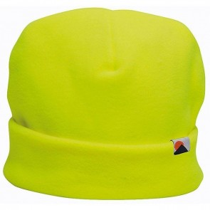 portwest hi vis thinsulate lined fleece hat yellow