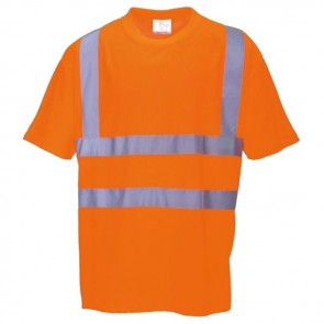 portwest hi-vis short sleeve t-shirt rt23 orange
