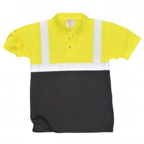 portwest hi vis two tone polo shirt s479 yellow
