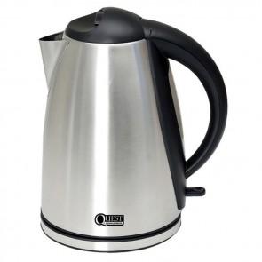 quest 1.8lt low wattage kettle polished steel k0035s