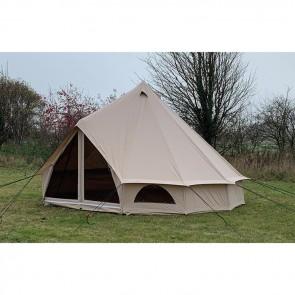 quest elite signature 4 metre canvas bell tent right