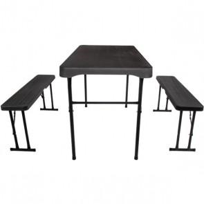 quest jet stream grassmoor table & bench set f0104 2019