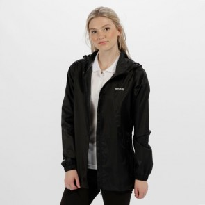 regatta pack-it jacket women's rmw305 black front