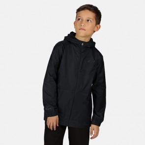 regatta pack it kids jacket iii rkw213 black front