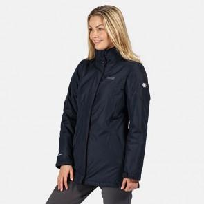 regatta blanchet II women's waterproof jacket rwp245 front navy