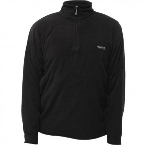 regatta thompson men's half zip fleece rma021 black