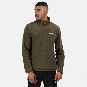 regatta thompson men's half zip fleece grape leaf front