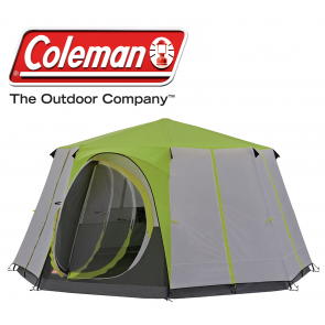 Coleman Green Octagon 8 berth person man WeatherTec family festival tent