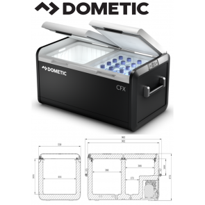 Dometic CFX3 95DZ 82ltr