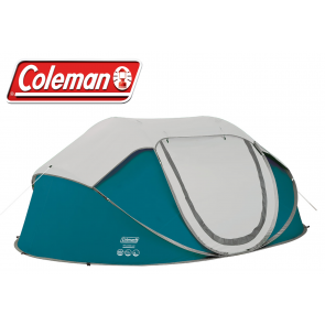 Coleman Galiano 4 person man pop up fast quick pitch festival camping tent BLUE 2000035213