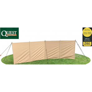 Quest Signature windblocker wooden poled 100% Cotton 500 x 150cm windbreak a5022