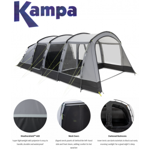 kampa hayling 6 berth poled tent 9120001259
