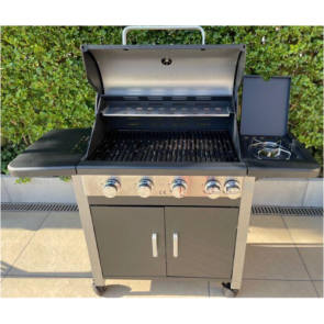 royal leisure outdoor deluxe 4 + 1 gas barbecue w913