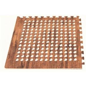Leisurewize Eva Pack of 4 Camping Gym playroom Floor Tiles Wood Dark LWACC244