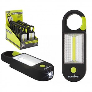 summit dual function panel light & torch with carabiner 840002