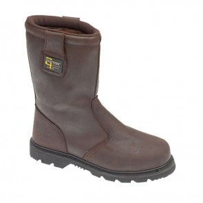 grafters men's safety toe lined rigger boot m376b