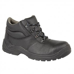 grafters unisex black safety chukka stc work boots m9536a