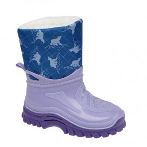 kids warm fleecy lined wellie w209 (3 colours) lilac