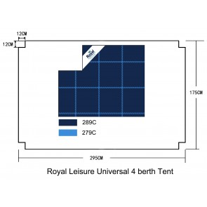 Royal Leisure Universal Luxury 3 Layer Tent Carpet 295cm x 175cm (Fits welford 4 ) w480